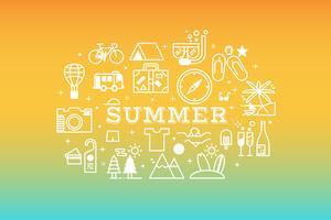 Sommerreiseikonen-Konzeptillustration