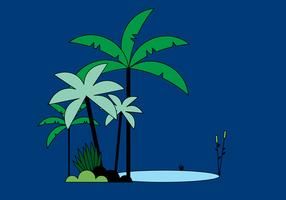 Gratis palmträd vektor