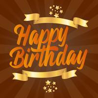 Lycklig födelsedag typografi hälsningskort vektor design
