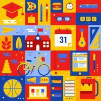 Concepto de educación vector
