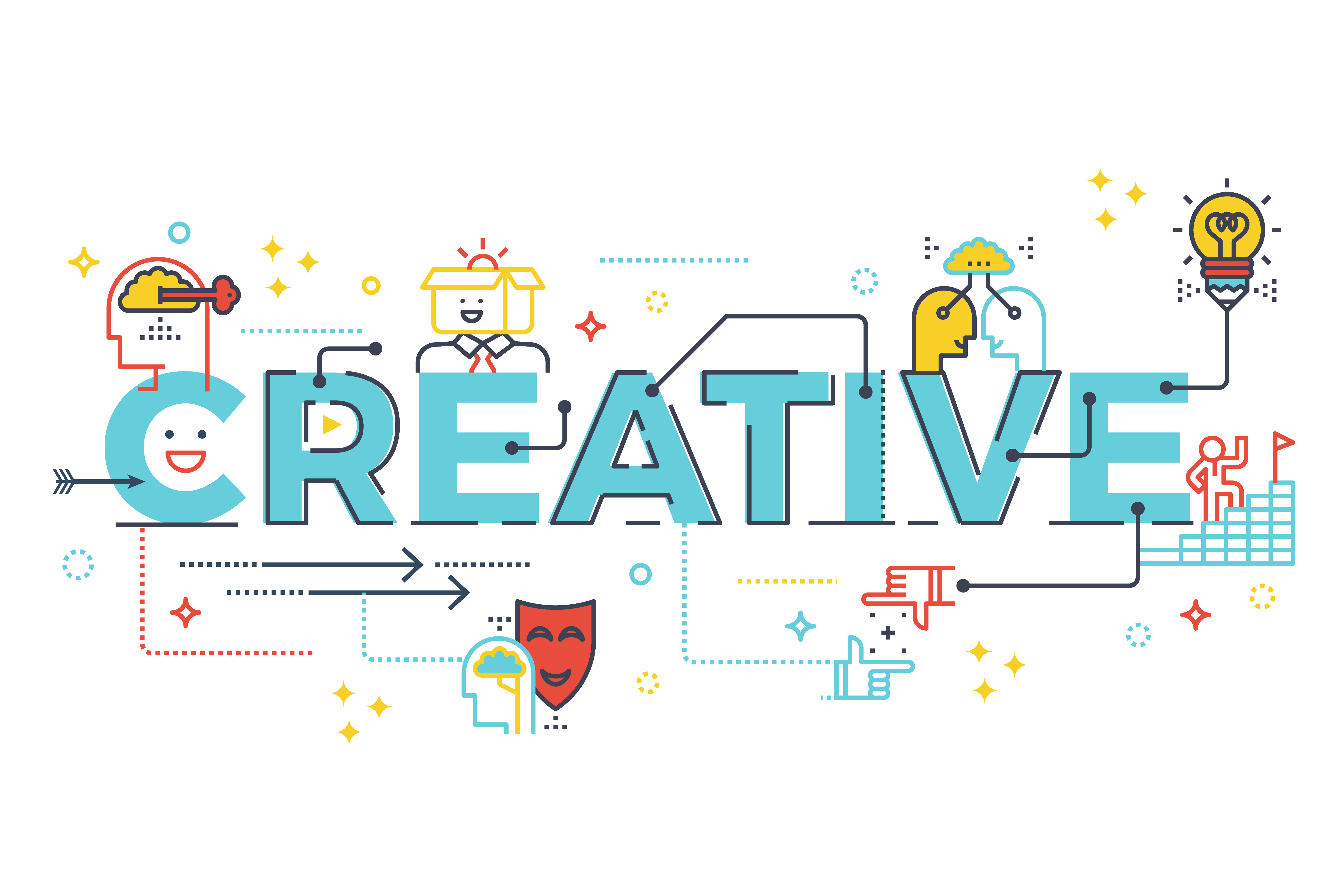 Creative Word Lettering Typography Design Download Free