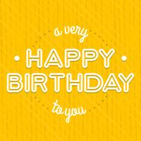 Vintage Birthday Card Lettering Design Template
