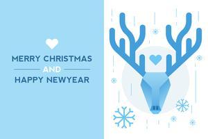 Querida tarjeta de año nuevo