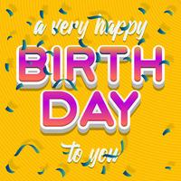 Happy Birthday Typography Vector Design