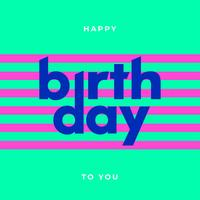 Typographie simple joyeux anniversaire