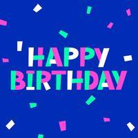 Aangepaste gelukkige verjaardag typografie met pop-kleur