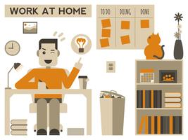 Work at home vector