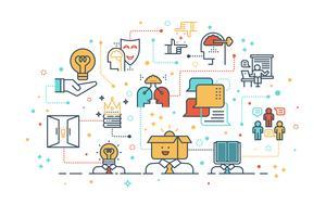 kreatives Lern- und Denkkonzept