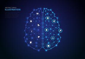 Menschliche Gehirnhälften Infografik