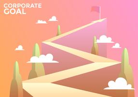 Corporate Goals Vector