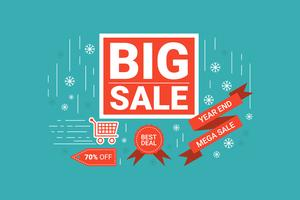 End of year big sale label