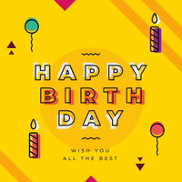 Happy Birthday Typography Vector