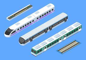 Trem isométrico Clip Art Vector