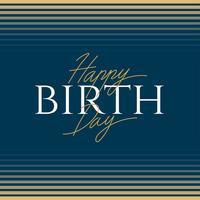Tipografia de feliz aniversário elegância