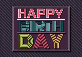 Gelukkige verjaardag Typografie