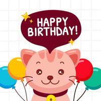 Birhday Card With Funny Cat