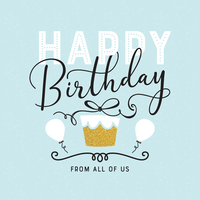 Happy Birthday Typography Vector Card