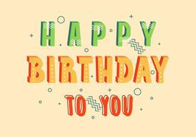 Gelukkige verjaardag typografie illustratie