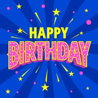 Grattis på födelsedagen Typografi Retro stil