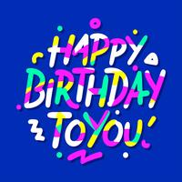 Gelukkige verjaardag Hand schrijven typografie
