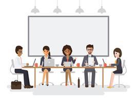 Empresários e empresárias reunião.