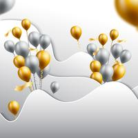 birthday celebration background vector illustration