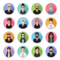 Businessmen and Business women avatars.