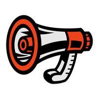 Megaphone Loudspeaker Bullhorn Announcement Alert