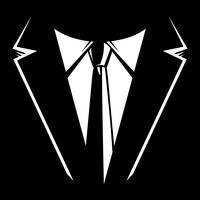 Hombre de negocios en traje cabeza vector icono