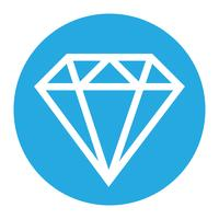 Logo vector diamante
