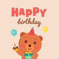 Cute Happy Birthday Greeting Card