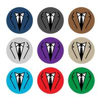 Businessman in suit head vector icon