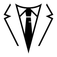 Businessman in suit head vector icon