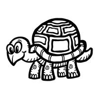Illustration de tortue mignon dessin animé
