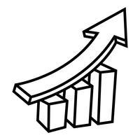 Ícone de vetor de gráfico de barras