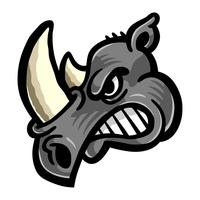 Rhino Horns Animal Cartoon-Vektor-Symbol