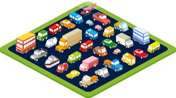 isometric flat cars