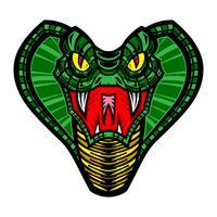 Dödlig cobra orm illustration