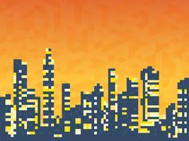 Paisagem urbana de casas de arranha-céus