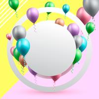 verjaardag viering achtergrond vectorillustratie