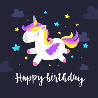 Unicorn Birthday Greeting Card