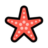 Starfish sea creature vector icon
