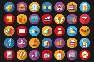 Icons  flat style vector