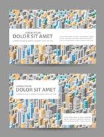 Grote isometrische stad