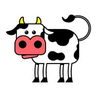 Cow vector cartoon illustration