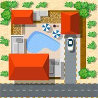 Draufsicht von Häusern