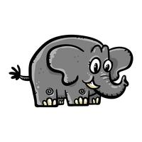 Schattige cartoon olifant illustratie