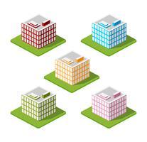 Isometric houses, town houses,