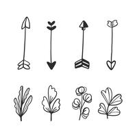 Doodle Arrows And Leaves Collection