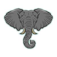 Angry cartoon elephant illustration